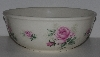 "MBA #2323-0128  ""Large Pink Rose Ceramic Mixing Bowl"""