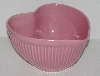 "MBA #2424-0125  "" Pink Ceramic Heart Shaped Bowl"""