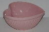 "MBA #2424-0132  ""Large Light Pink Ceramic Heart Shaped Bowl"""
