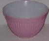 "MBA #2424-0106  ""Large Pink & White Plastic Mixing Bowl"""