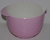 "MBA #2424-0054  ""Pink & White Plastic Small Mixing Bowl"""
