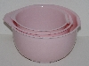 "MBA #2424-0059  ""Set Of 3 Light Weight Pink Nesting Mixing Bowls"""
