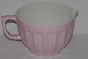 "MBA #2424-0147  ""Large Pink & White Plastic Batter Bowl"""