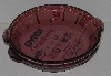"MBA #2424-0029  ""1987 Pyrex Set Of 2 Cranberry Glass Pie Plates"""