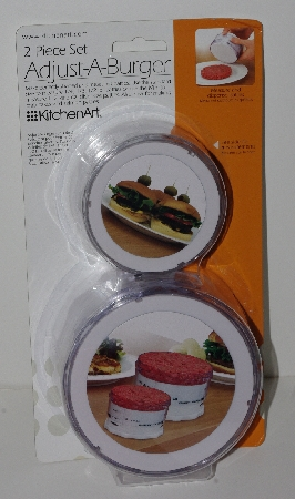 "+MBA #2525-0102  ""2009 Kitchen Art Ajust-A-Burger 2 Piece Set"""
