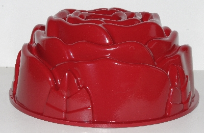 "+MBA #2525' 0028  ""Red Nordic Ware Rose 10 Cup Bundt Pan"""