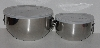 "MBA #2525-0215  ""Farberware Set Of 2 Stainless Steel Beater Bowls With Lids"""