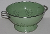 "MBA #2525-0281  ""Large Green Enameled Colander"""