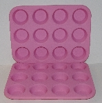 "MBA #2626-0035  ""Set Of 2 Soft Pink Silicone Cupcake Pans"""