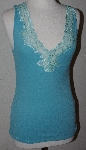 "MBA #2626-0104  ""Set Of 2 August Silk Floral Lace Stretch Tank Tops"""