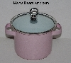 "MBA #2626-0116  ""Small Pink Stock Pot With Lid"""