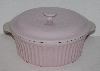 "MBA #2626-0192  ""Typhoon Vintage Pink Large Ceramic Casserole Dish With Lid"""