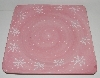 "MBA #2626-0156  ""Gates Ware Fancy Pink Ceramic Snow Flack Platter"""