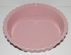 "MBA #2626-172  ""Chantel Fancy Pink Ceramic Pie Dish"""