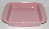 "MBA #2626-167  ""2005 Chantel Pink Ceramic With Hearts Baking Dish"""