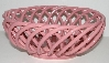 "MBA #2626195  ""Pink Ceramic Bread Basket"""