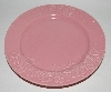 "MBA #2626-216  ""2003 Set Of 4 Pink Ceramic Desert Plates"""