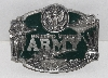 "MBA #2626-298  ""1987 Siskiyou Pewter Army Belt Buckle"""