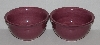 "MBA #2700-0235   ""Hausenware Pink Set Of 2 Ceramic Bowls"""