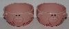 "MBA #2727-0330    ""2004 Set Of 2  Tender Heart Pink Ceramic ""Oink"" Ice Cream Bowls"""
