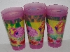 "MBA #2727-0394   ""Set Of 21 Pink Flamingo Plastic Tall Drinking Cups"""