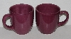 "MBA #2727-0409   ""Hausenware Set Of 2 Dark Pink Jumbo Coffee/Soup Cups"""
