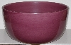 "MBA #2727-0416    "" Large Hausenware Dark Pink Ceramic Serving Bowl"""