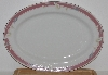 "MBA #2727-0434    ""Majesty Collection Taupe Fantasy Large Oval Serving Platter"""