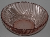"MBA #2727-436   "" Set Of 2 Large Pink Glass Serving Bowl"""
