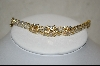 **18Kt Over Sterling Champagne & Clear Cz Bracelet