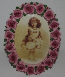 "MBA #2727-0190    ""Oval Pink  Rose Picture Frame"""