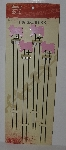 "MBA #2727-0225    ""Set Of 8  Pink Pig Pig Skewers"""