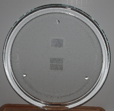 "MBA #2727-0042  ""Large Clear Glass Candle Display Plate"""