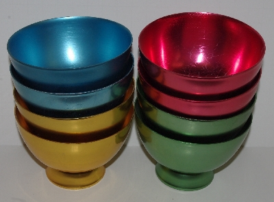 "+MBA #2727 -0382   ""Set Of 8 Metal Ice Cream Bowls"""