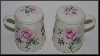 "MBA #2727-663   ""Clairemont Pink Rose Ceramic Salt & Pepper Shakers"""
