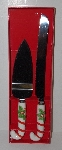 "MBA #2727-318  ""1980's Home For The Holidays Christman Ceramic Handled Knife & Server Set"""