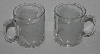 "MBA #2727-0271     ""Set Of 2 Grizzly Bear Etched Clear Glass Coffee Cups"""