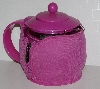 "MBA #2727-475   ""Pink Bonjour Pyrex Tea Pot With Infuser & Jacket"""