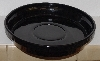 "MBA #2828-359  ""2004 Tender Heart Black Ceramic Moon & Stars Pie Dish"""