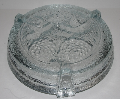 "MBA #2828-0337    ""1977 Blenko Oriental Crystal Art Glass Ashtray"""
