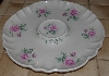 "+MBA #2828-532   ""Pink Clairemont Rose Ceramic Chip & Dip Dish"""