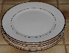 "MBA #2828-279  ""Set Of 4 Wallace White China Gold Trimed Dinner Plates"""