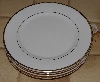"MBA #2828-484   ""Set Of 4 Wallace Gold Trimed White China Toast Plates"""