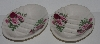 "MBA #2828-0157   ""Set Of 2 Pink & Red Rose Crown Heritage Ceramic Soap Dishes"""