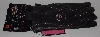 "MBA #2828-0139  ""2010 Harley Davidson Womens Black With Pink Stitching Leather Gloves"""