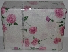 "MBA #2828-0088   ""Northern Nights Chelsea Rose Printed 300 TC Sateen 4 Piece  King Size Sheet Set"""