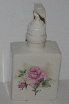 "MBA #2828-213  ""Ceramic Pink Clairemont Rose Hand Soap Dispenser"""