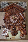 "MBA #2929-466    ""2004 Hubert Herr Moving Squirrels Cuckoo Clock With Hand Carved Deer Head"""