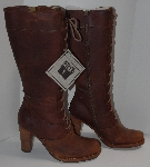 "MBA #2929-0075   ""2006 Frye Villager Lace Up Dark Brown Boots"""