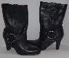 "MBA #2929-0050   "" 2005 Harley Davidson Womens Nina Black Dress Harness Leather Boots"""